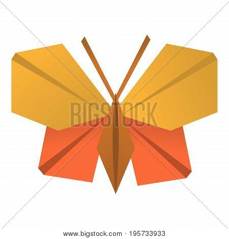 Origami butterfly icon. Cartoon illustration of origami butterfly vector icon for web