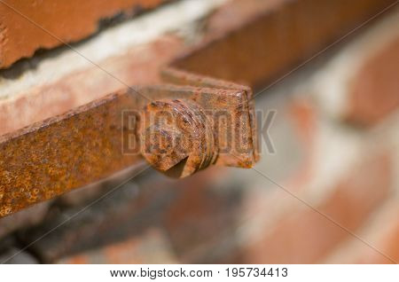 Rusty Metal Strip And Bolt