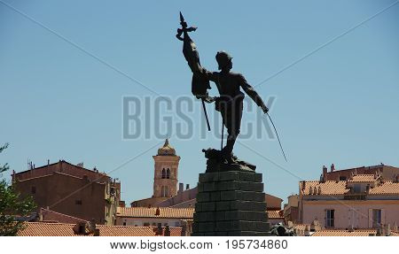 The Monument To The Legionary, The Historical Army Based In Corsica.