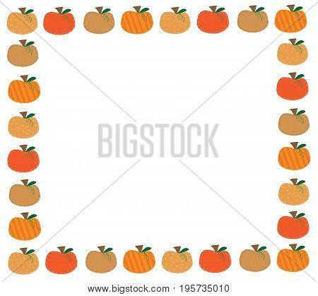 Harvest Fall Autumn October November Pumpkin Border