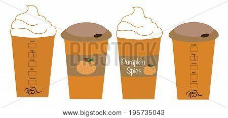 Harvest Fall Autumn Seasonal Pumpkin Spice Lattes