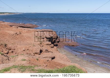 Red Rocks On Cavendish Beach, Prince Edward Island