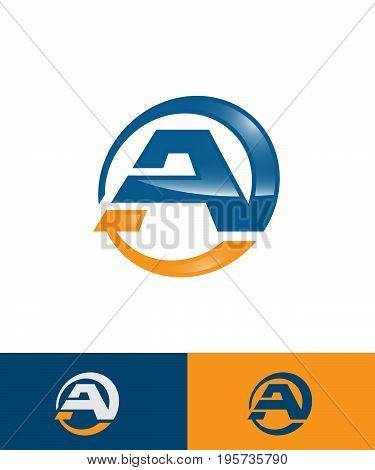 Letter A big logo pack for your company