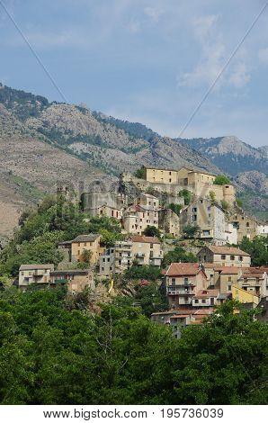 The Medieval Citadel Of Corte, Corsica.