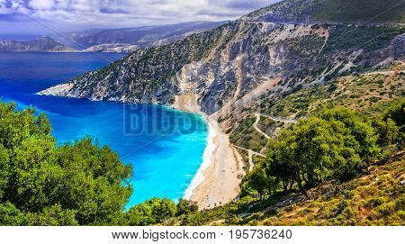 One of the most beautiful beaches of Greece- Myrtos bay in Kefal