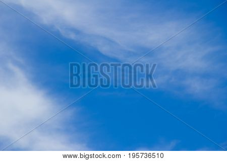 blue sky and flutter cloud in fresh day