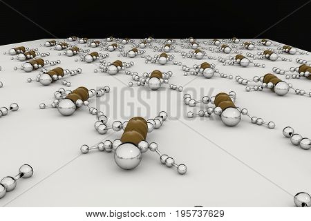 The robot army crawls over the surface. 3D rendering.