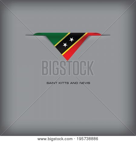 The combination of colors of the national flag Saint Kitts and Nevis.