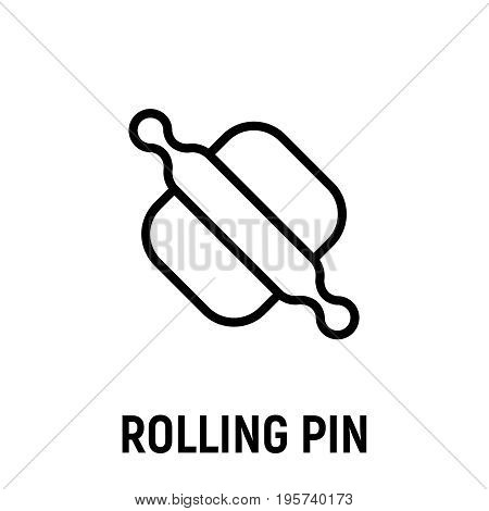 Thin line rolling pin icon. Vector illustration isolated on a white background. Simple outline pictogram of microwave.