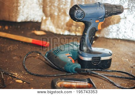 Electric hand tools screwdriver Drill Saw jigsaw jointer photo processing