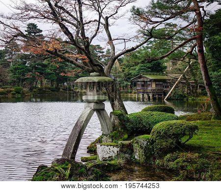 Kenroku-en Garden In Kanawaza, Japan.