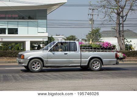 Private Old Mazda Pick Up Truck.
