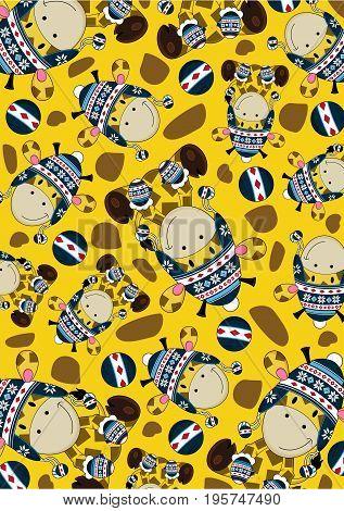 Wooly Hat Giraffe Pattern