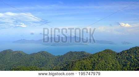 Aerial view of Langkawi Island, Malaysia, Asia
