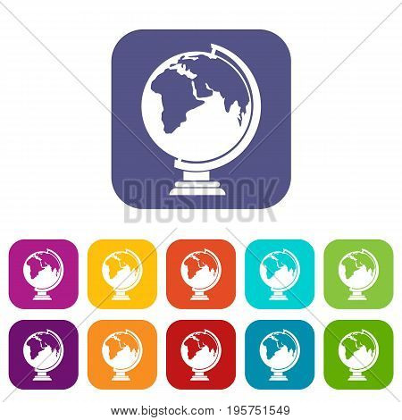 Closed book icons set vector illustration in flat style In colors red, blue, green and other