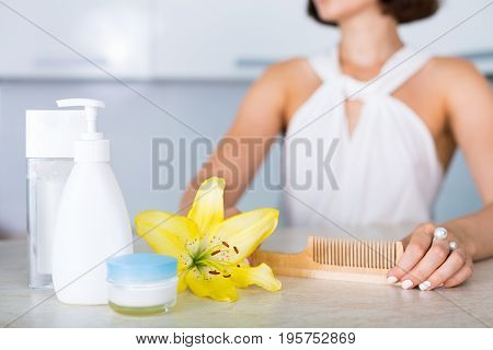Essential Cosmetics On A Table