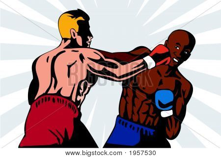Boxer Delivering The Knockout Punch