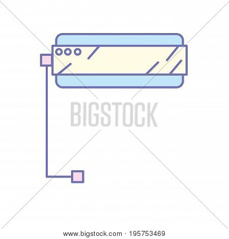 3d glasses technology to dimension experience vector illustration
