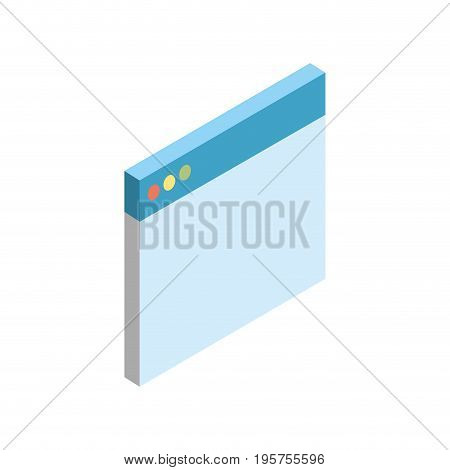 window website technology to search things vector illustration