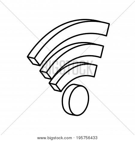 line, wifi technology to connect in the digital network vector illustration