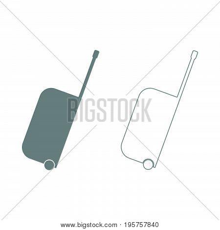 Bag On Wheels The Grey Set Icon .
