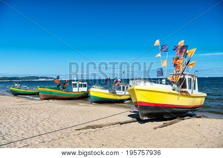 Fishing Boat At The Baltic Beach