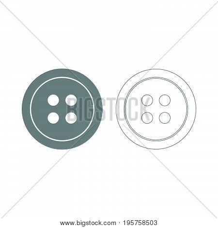 Clothing Button The Grey Set Icon .