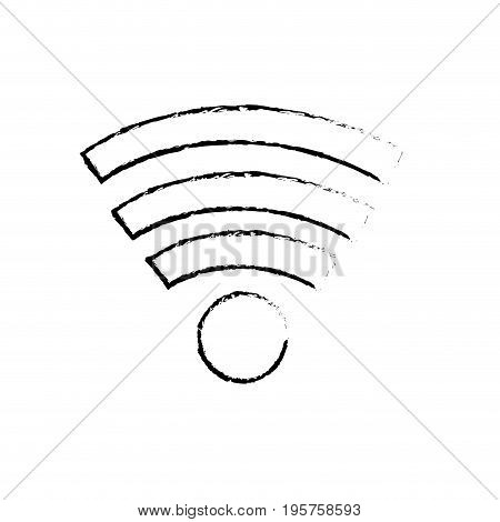 figure wifi technology to connect in the digital network vector illustration