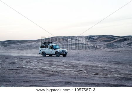 Car In Desert, Hurghada, Egypt