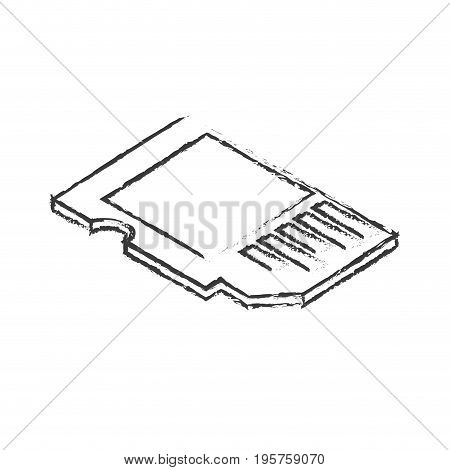 figure micro sd technology to save documents vector illustration