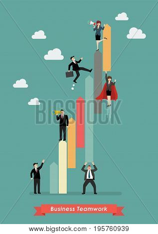 Business teamwork concept. Vector illustration graphic design