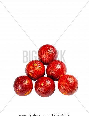 Sicilian orange ruby red oranges six halves