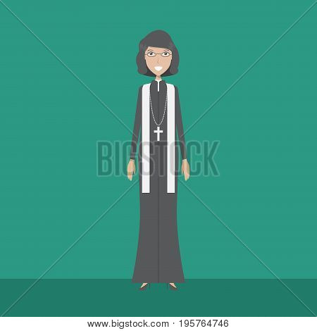 Lecturer Pastor Character | set of vector character illustration use for human, profession, business, marketing and much more.The set can be used for several purposes like: websites, print templates, presentation templates, and promotional materials.