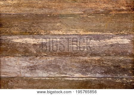 Rustic Old Wooden Weathered Plank Timber Background - Brown