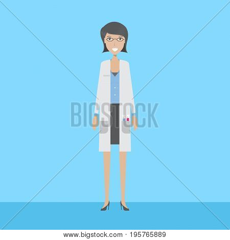 Scientist Character set of vector character illustration use for human, profession, business, marketing and much more.The set can be used for several purposes like: websites, print templates, presentation templates, and promotional materials.