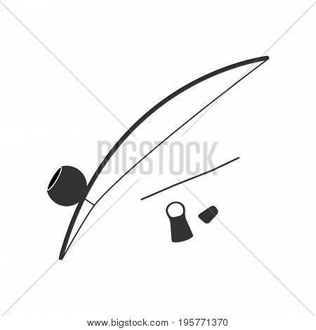 Berimbau, percussion instrument, flat design. Vector icon for web graphic