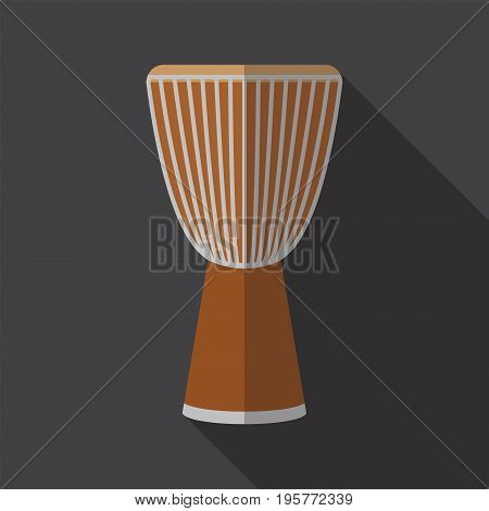 Djembe drum. Flat icon. Vector icon for web graphic