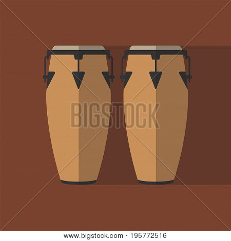 Conga musical instrument. Flat icon. Vector icon for web graphic