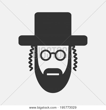 Orthodox jew icon Vector icon for web graphic