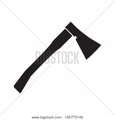 Axe icon. The ax symbol. Flat Vector icon for web graphic