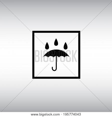 Waterproof flat vector icon. Isolated waterproof vector sign. Umbrella vector image.