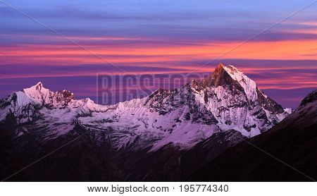 Mount Machapuchare (fishtail), View From Annapurna Base Camp, Nepal