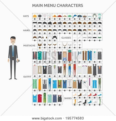 Character Creation Accountant   set of vector character illustration use for human, profession, business, marketing and much more.The set can be used for several purposes like: websites, print templates, presentation templates, and promotional materials.