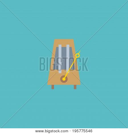 Flat Icon Metronome Element. Vector Illustration Of Flat Icon Rhythm Motion Isolated On Clean Background