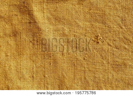Orange Color Hessian Sack Cloth Pattern.