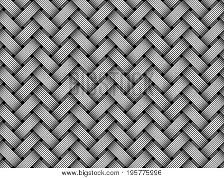 Woven fiber seamless pattern background. Vector Illustration