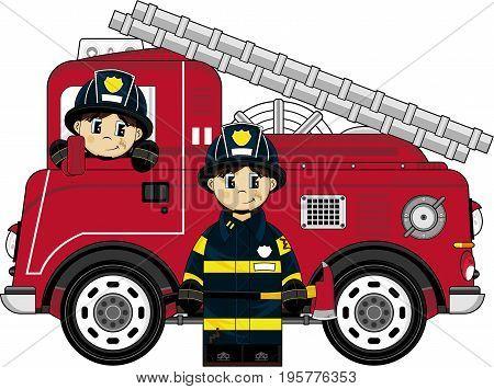 Little Fireman & Engine.eps