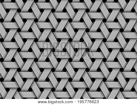 Wicker fiber seamless pattern background. Vector Illustration