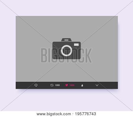 Social network post place for photo mockup template smartphone.