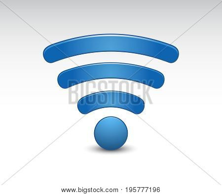 3D Wi Fi wireless network symbol. Wi fi vector icon